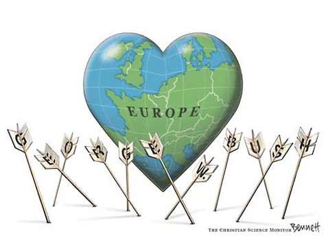 Bush en Europa.